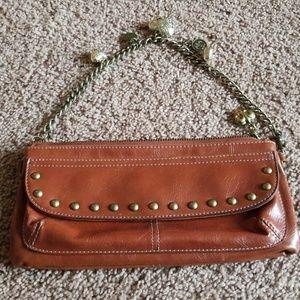 Kathy van Zeeland Tan clutch purse